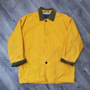Vtg A&F Corduroy Collar Yellow Field Barn Coat